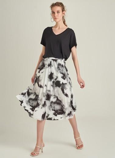 Ng Style Batik Desenli Piliseli Etek Siyah